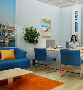 Фирменный офис продаж Пегас Туристик в Новосибирске